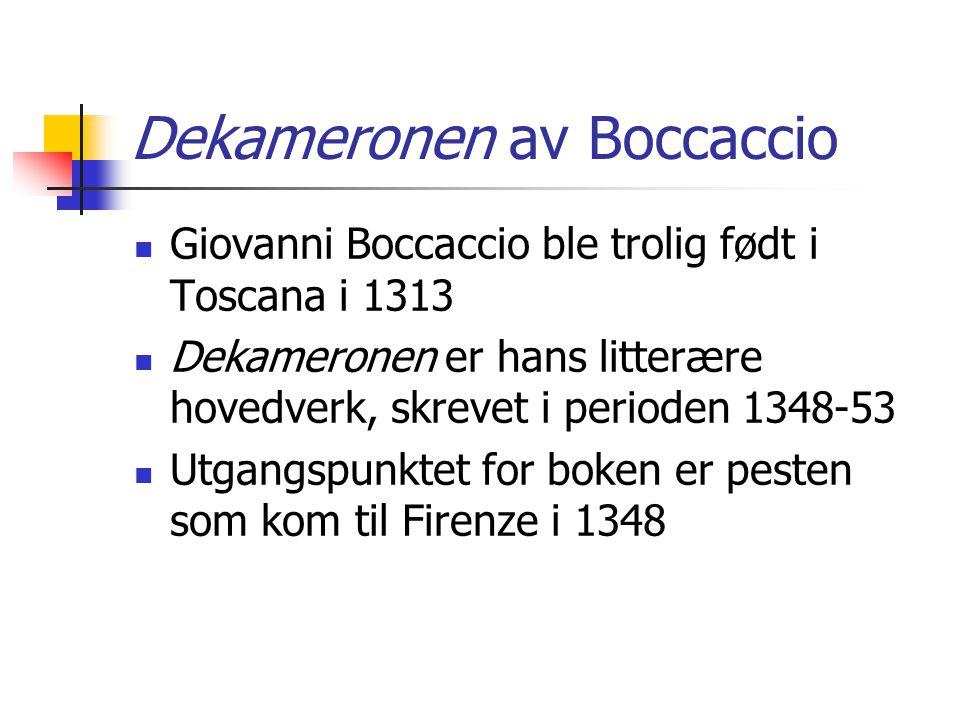 Dekameronen av Boccaccio