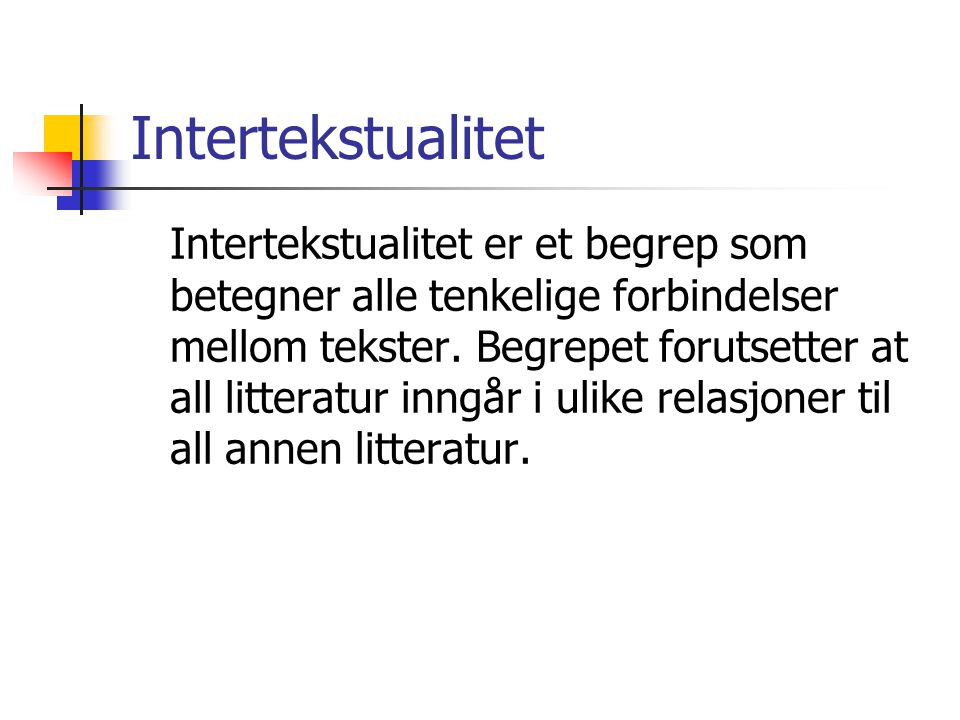 Intertekstualitet