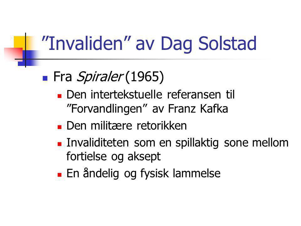 Invaliden av Dag Solstad