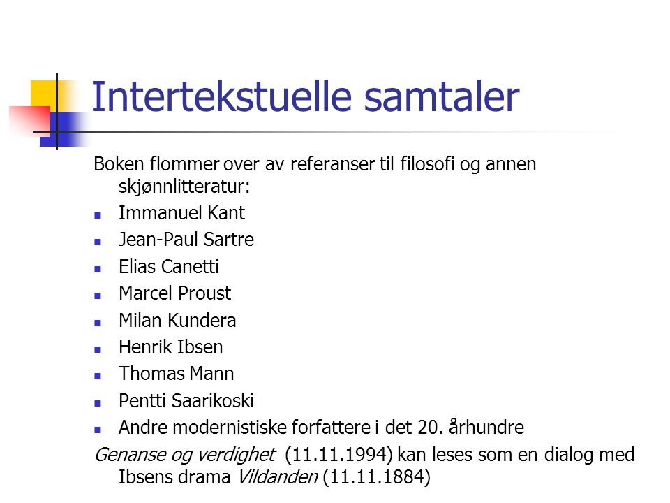 Intertekstuelle samtaler