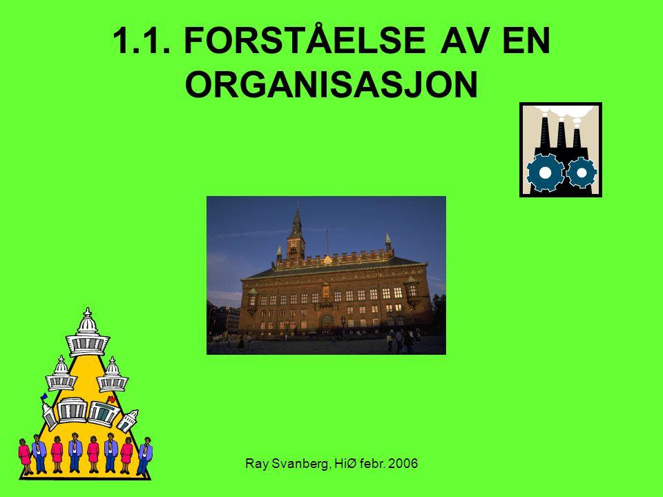 1.1. FORSTÅELSE AV EN ORGANISASJON