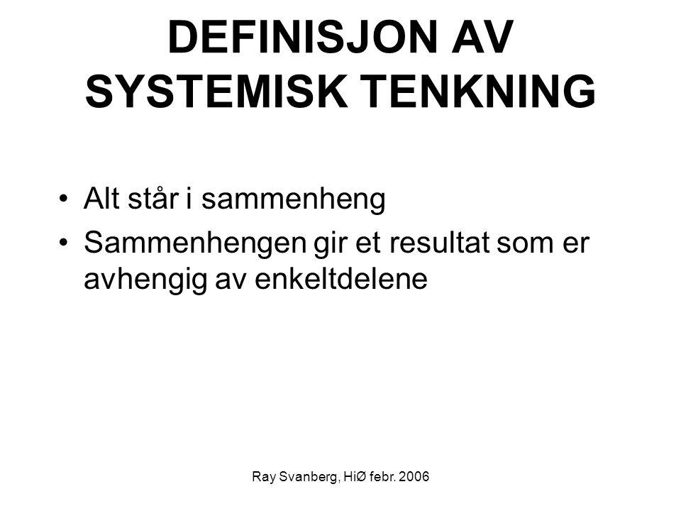 DEFINISJON AV SYSTEMISK TENKNING