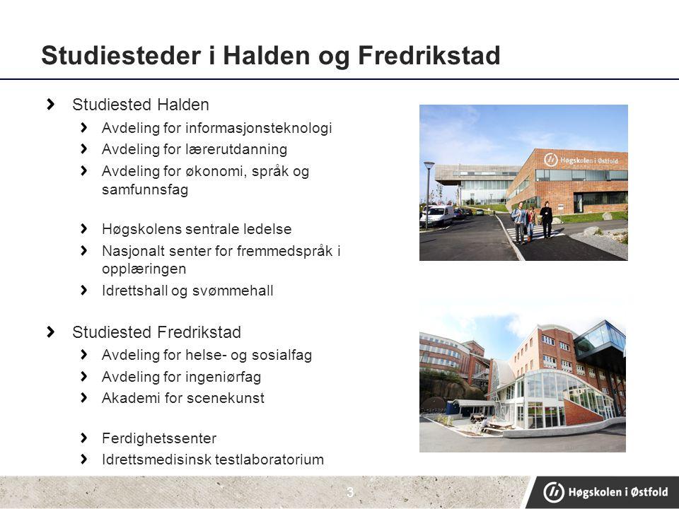 Studiesteder i Halden og Fredrikstad