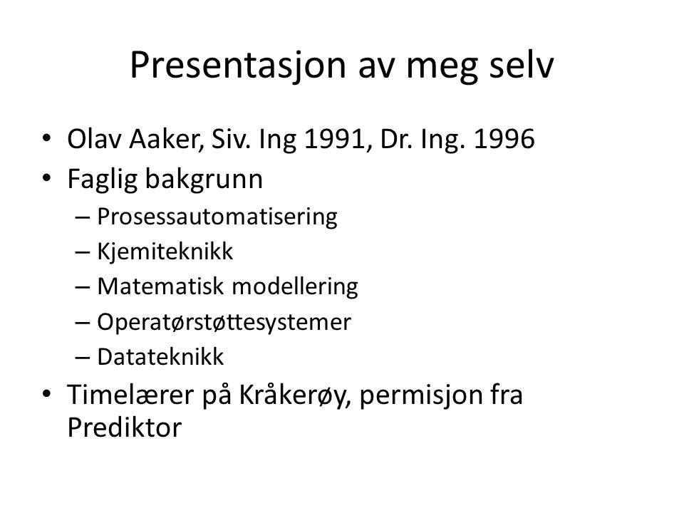 Presentasjon av meg selv