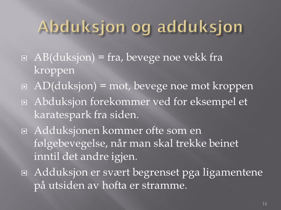 Abduksjon og adduksjon