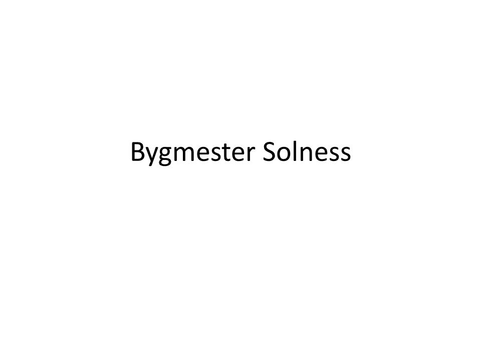 Bygmester Solness