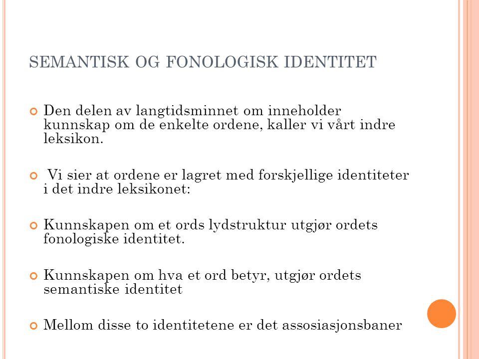 semantisk og fonologisk identitet