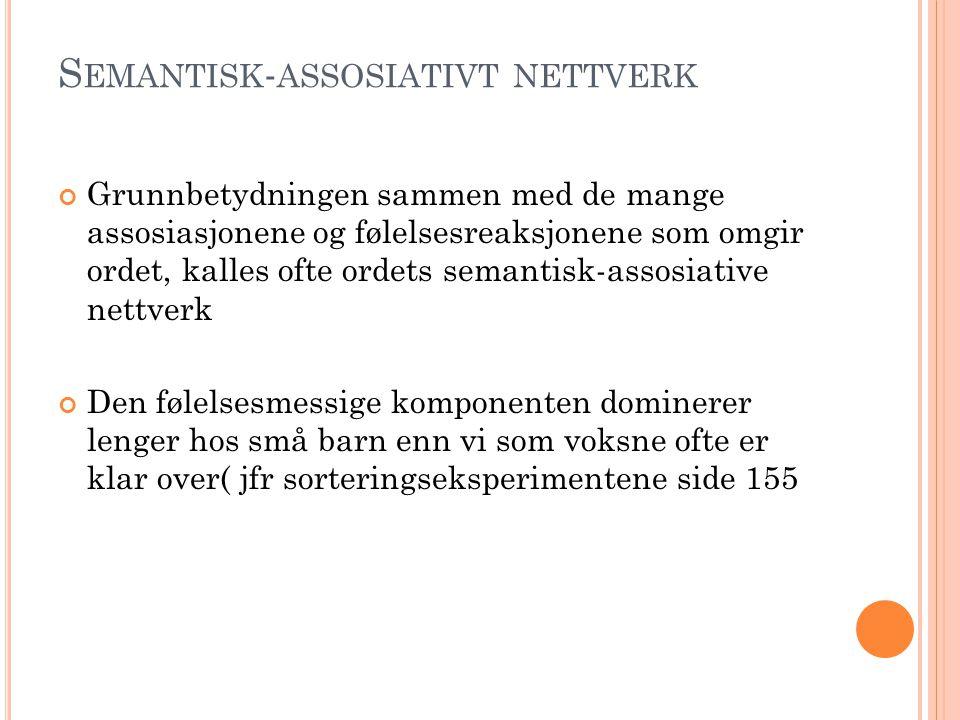 Semantisk-assosiativt nettverk