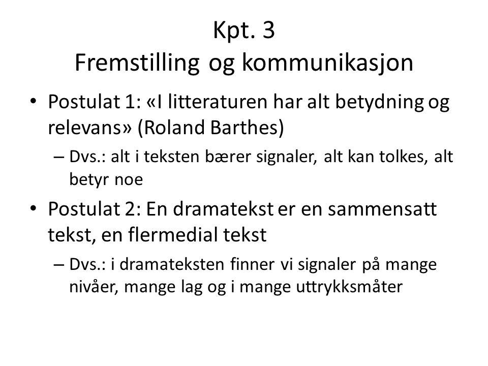 Kpt. 3 Fremstilling og kommunikasjon