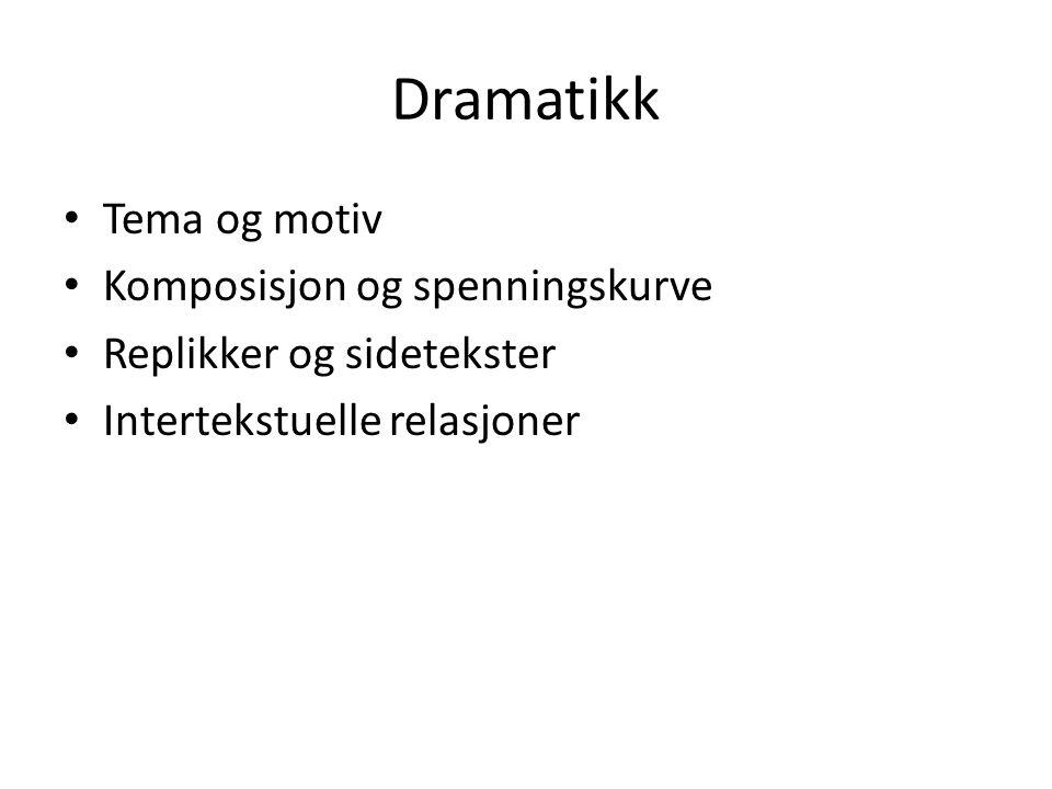 Dramatikk Tema og motiv Komposisjon og spenningskurve