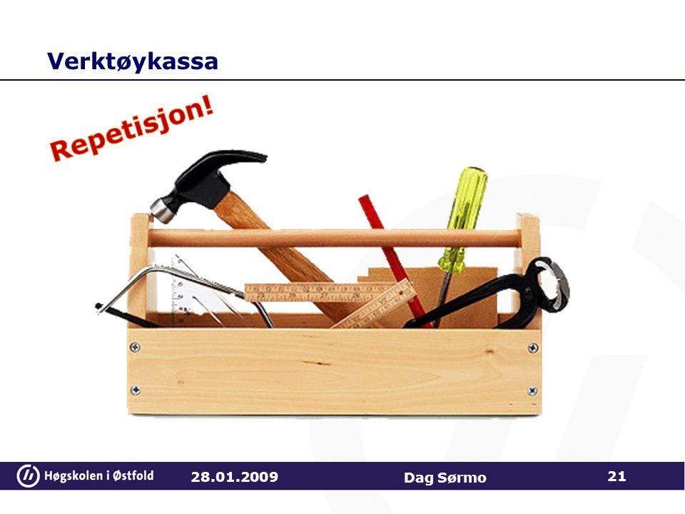 Verktøykassa Repetisjon! 28.01.2009 Dag Sørmo