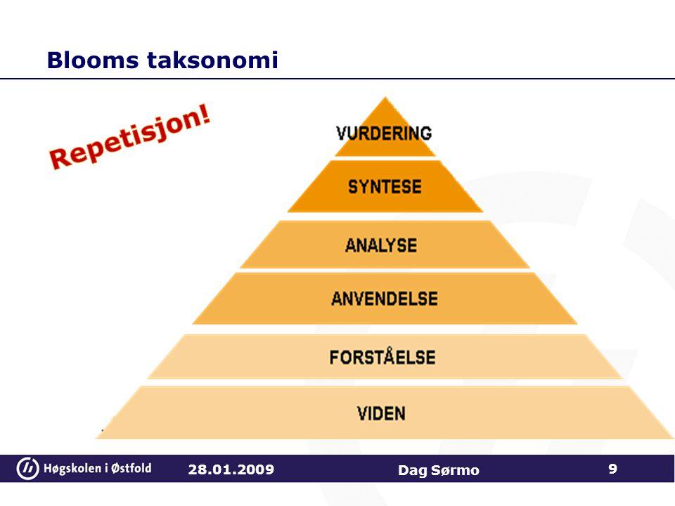 Repetisjon! Blooms taksonomi 28.01.2009 Dag Sørmo Viten: