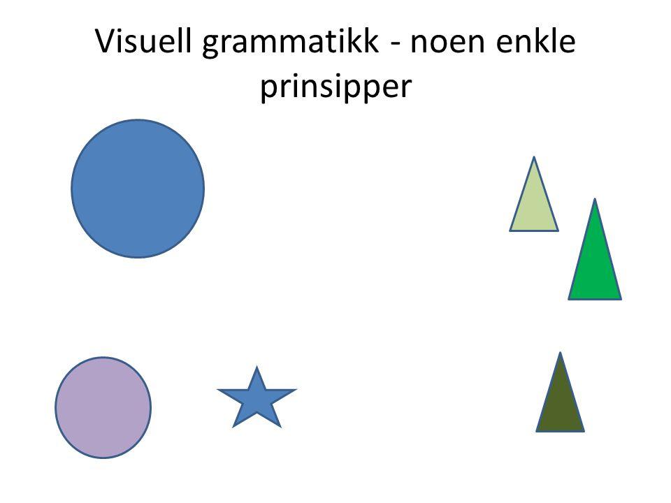 Visuell grammatikk - noen enkle prinsipper