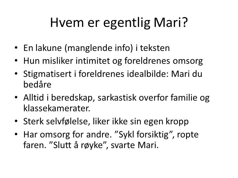 Hvem er egentlig Mari En lakune (manglende info) i teksten