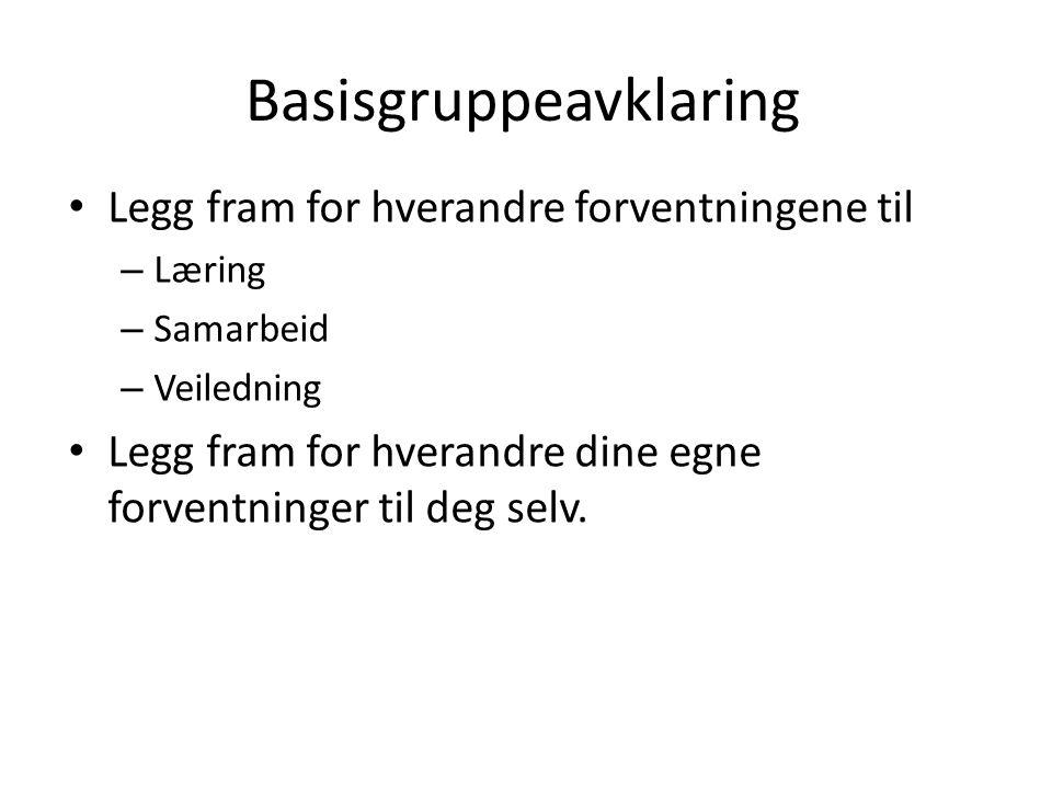 Basisgruppeavklaring