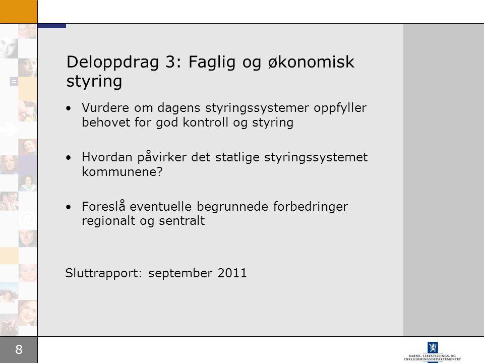 Deloppdrag 3: Faglig og økonomisk styring