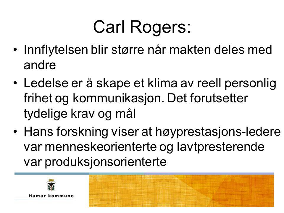 Carl Rogers: Innflytelsen blir større når makten deles med andre