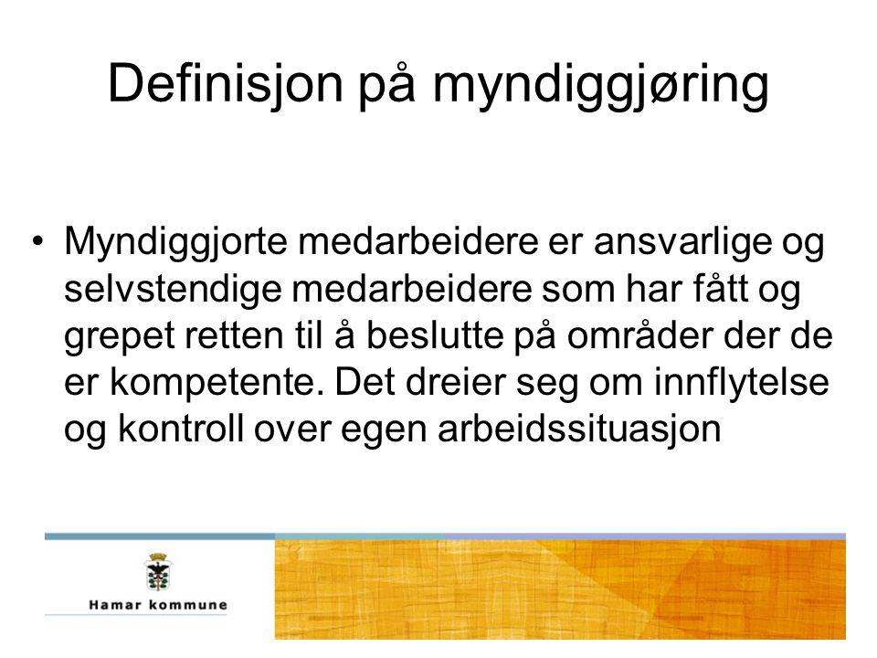 Definisjon på myndiggjøring