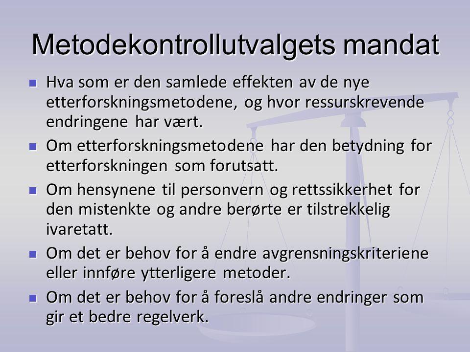 Metodekontrollutvalgets mandat