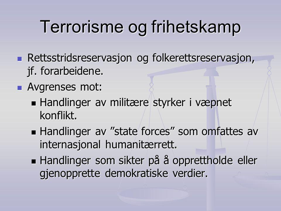 Terrorisme og frihetskamp