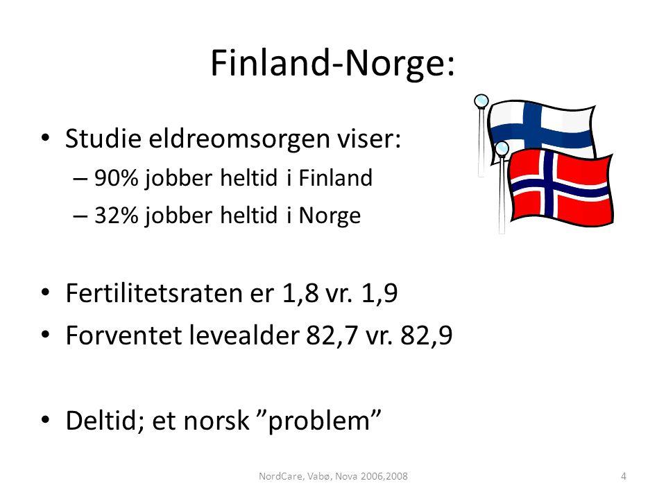 Finland-Norge: Studie eldreomsorgen viser: