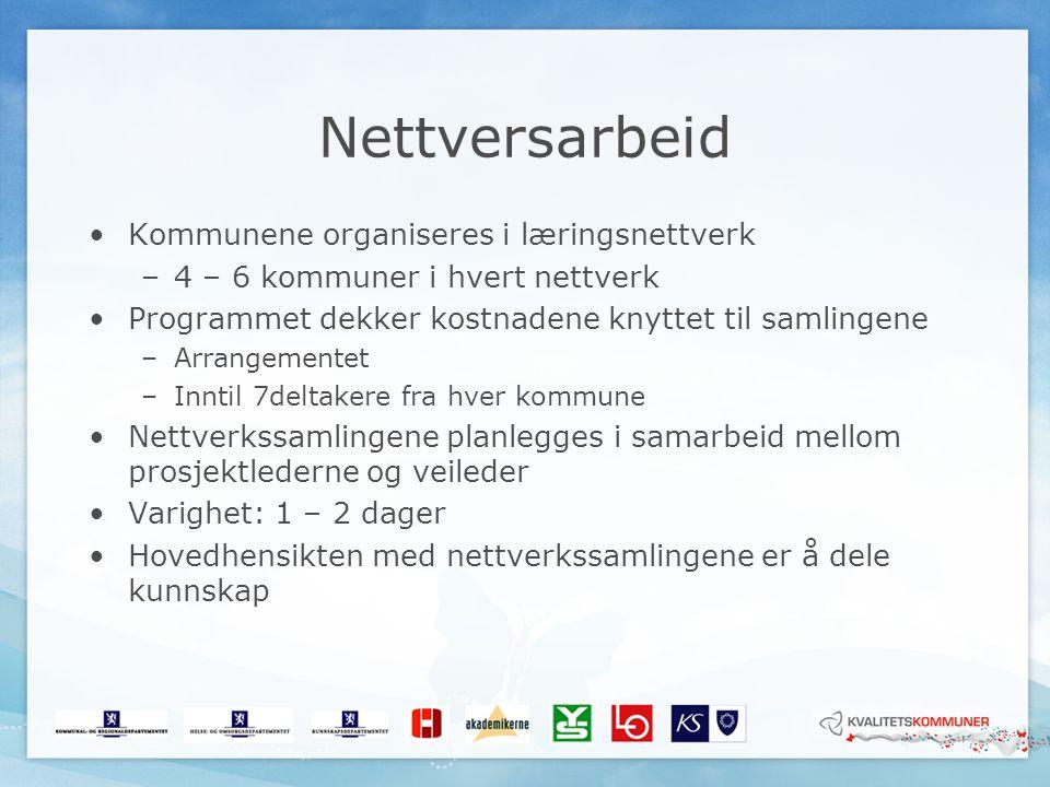 Nettversarbeid Kommunene organiseres i læringsnettverk