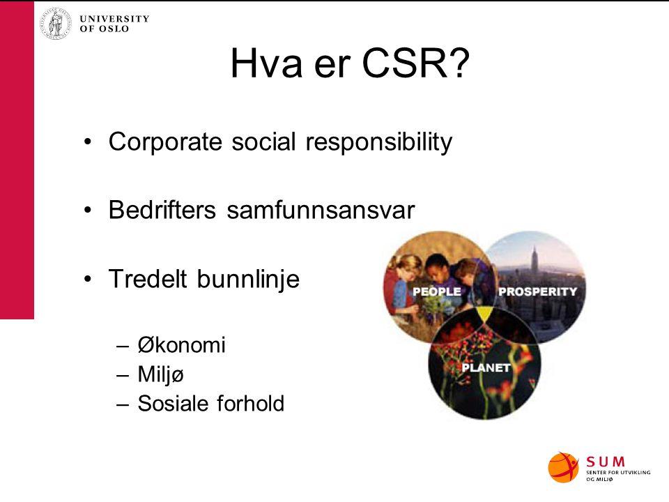 Hva er CSR Corporate social responsibility Bedrifters samfunnsansvar