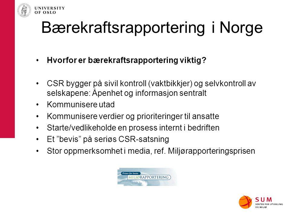 Bærekraftsrapportering i Norge