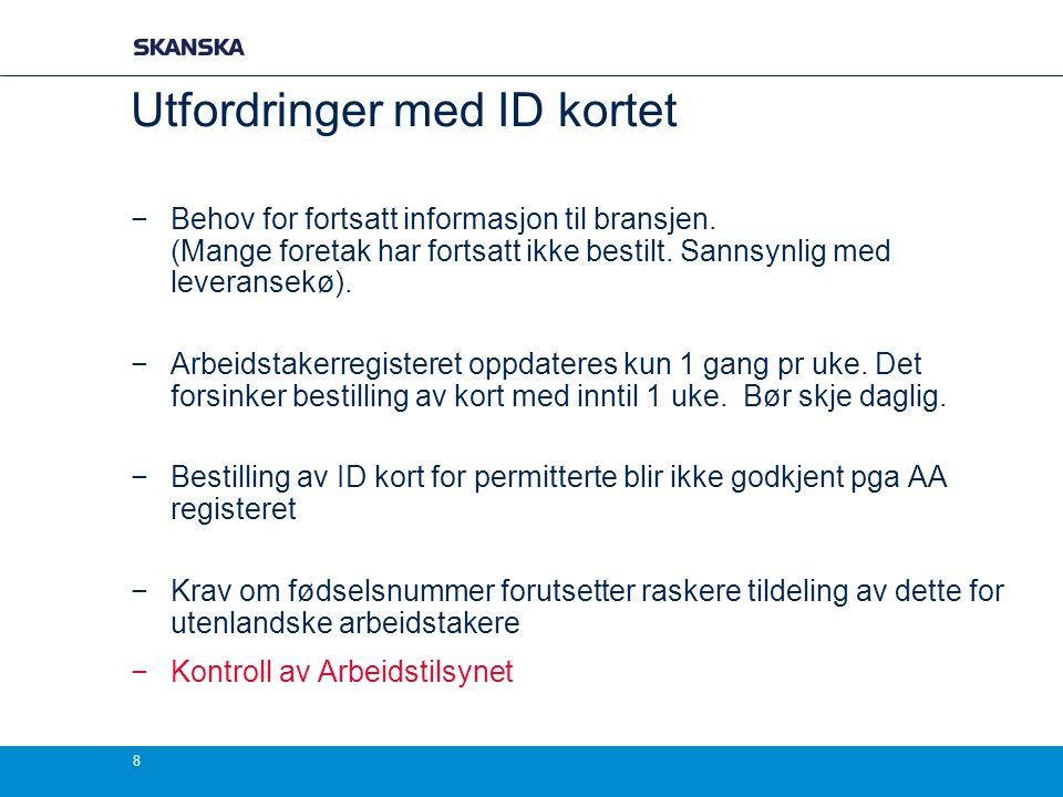 Utfordringer med ID kortet