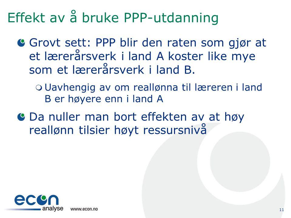 Effekt av å bruke PPP-utdanning