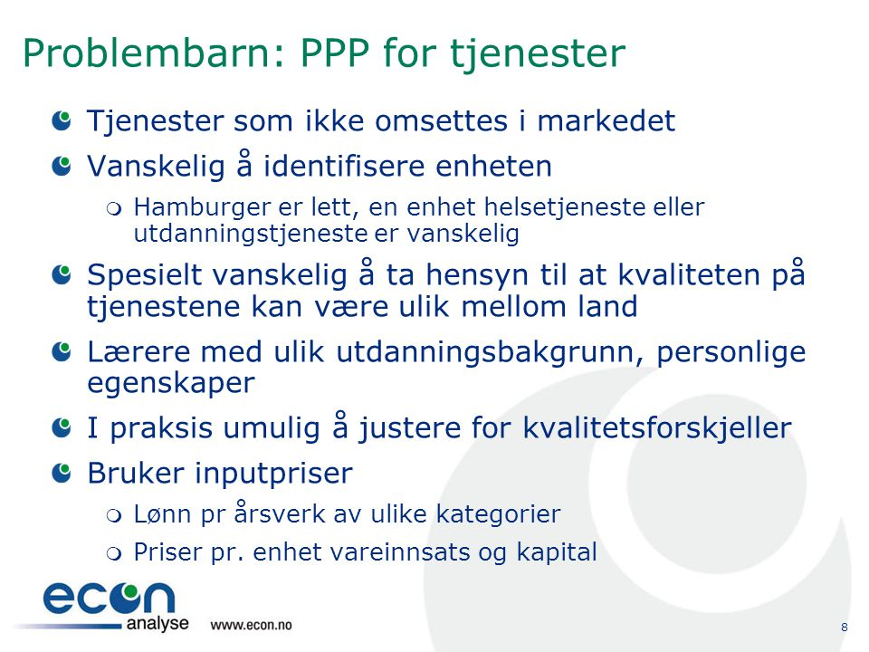 Problembarn: PPP for tjenester