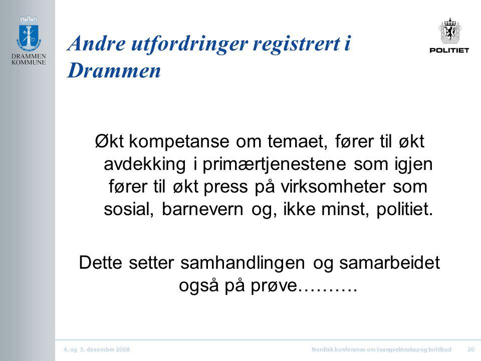 Andre utfordringer registrert i Drammen