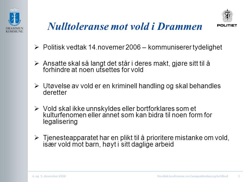 Nulltoleranse mot vold i Drammen