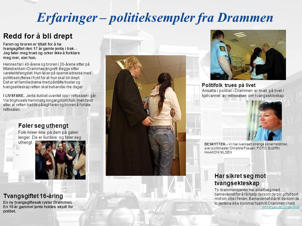Erfaringer – politieksempler fra Drammen