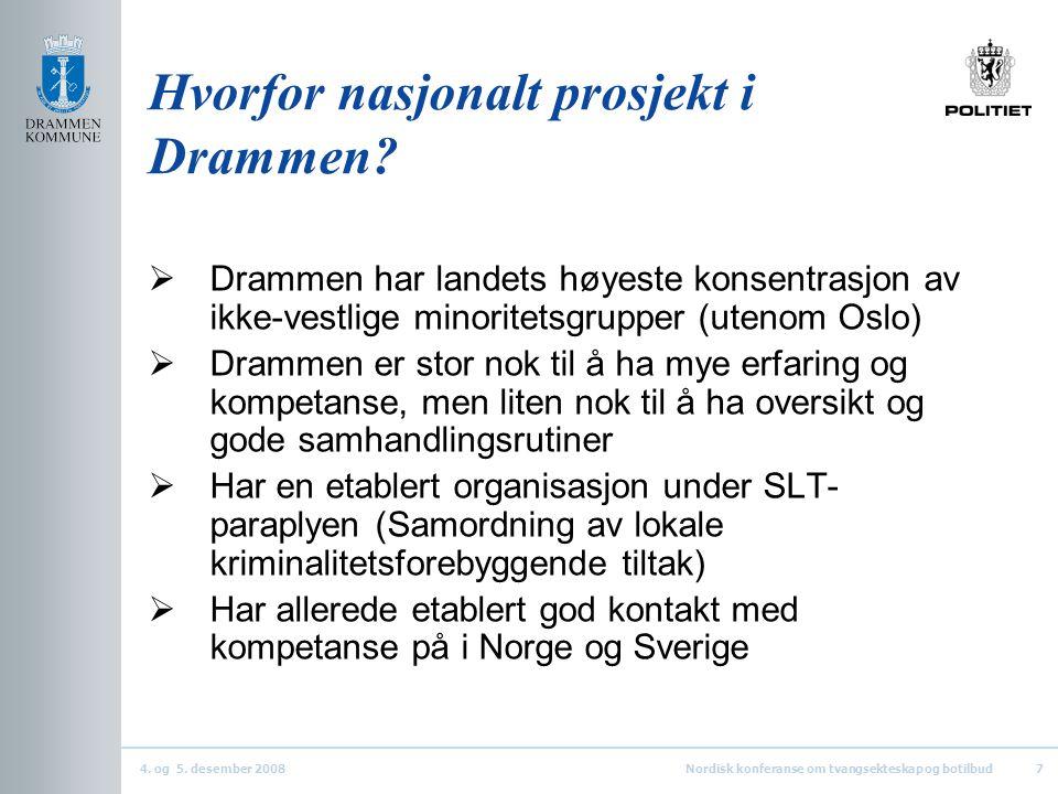 Hvorfor nasjonalt prosjekt i Drammen