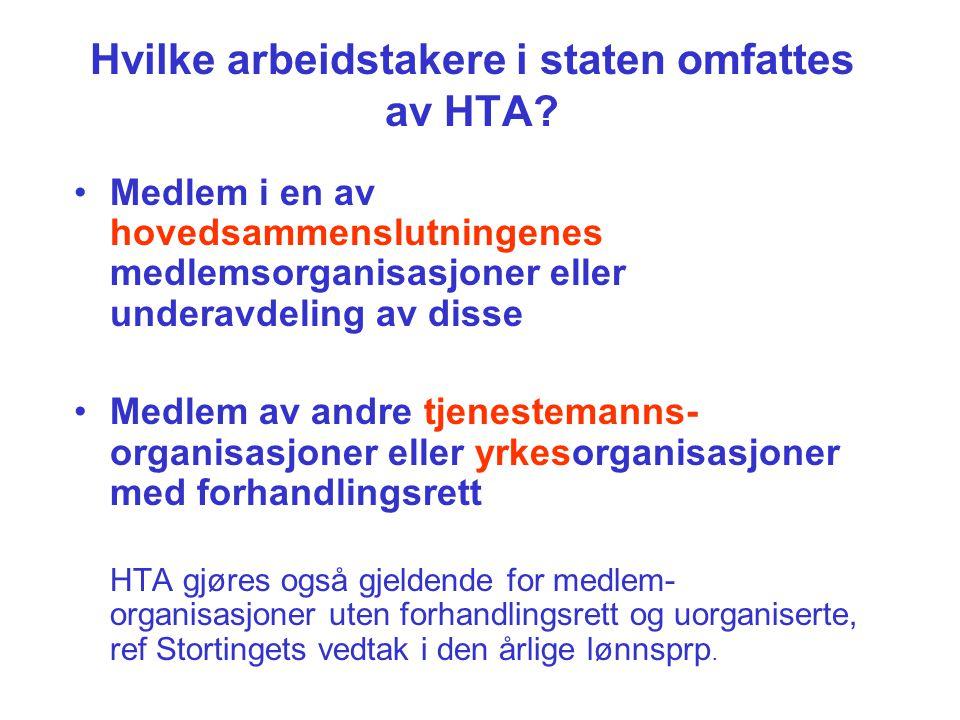 Hvilke arbeidstakere i staten omfattes av HTA