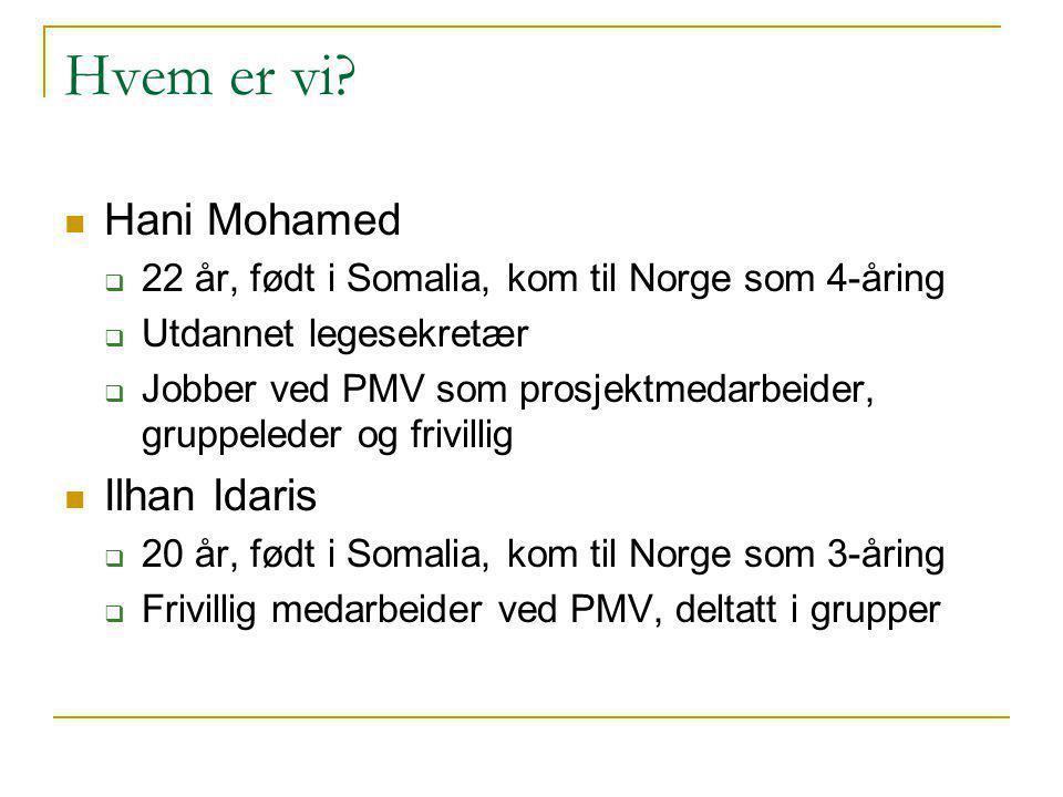 Hvem er vi Hani Mohamed Ilhan Idaris