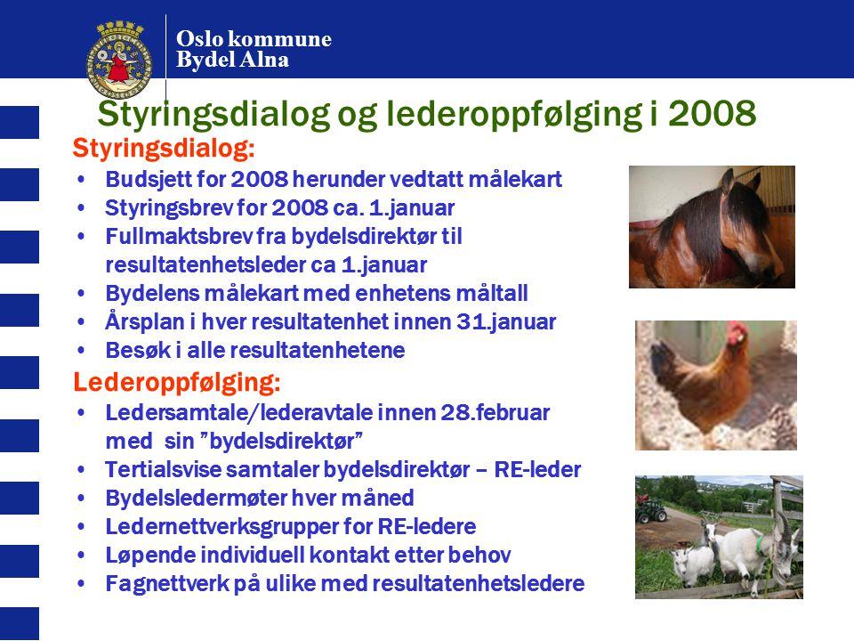 Styringsdialog og lederoppfølging i 2008
