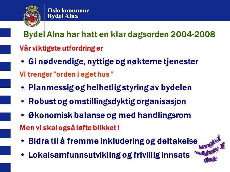 Bydel Alna har hatt en klar dagsorden 2004-2008