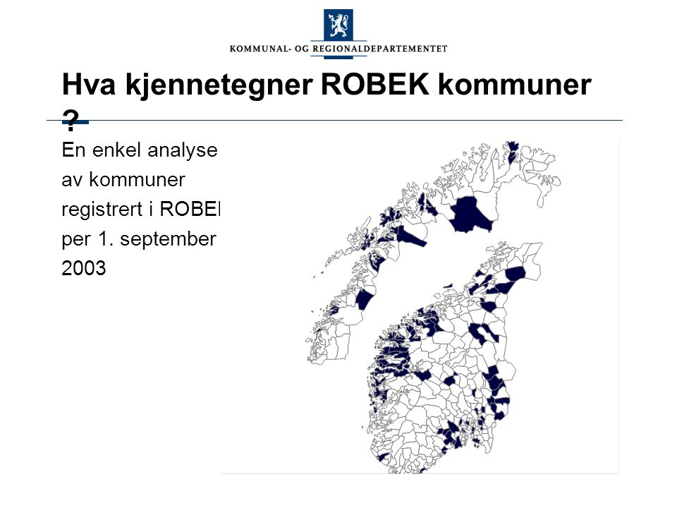 Hva kjennetegner ROBEK kommuner