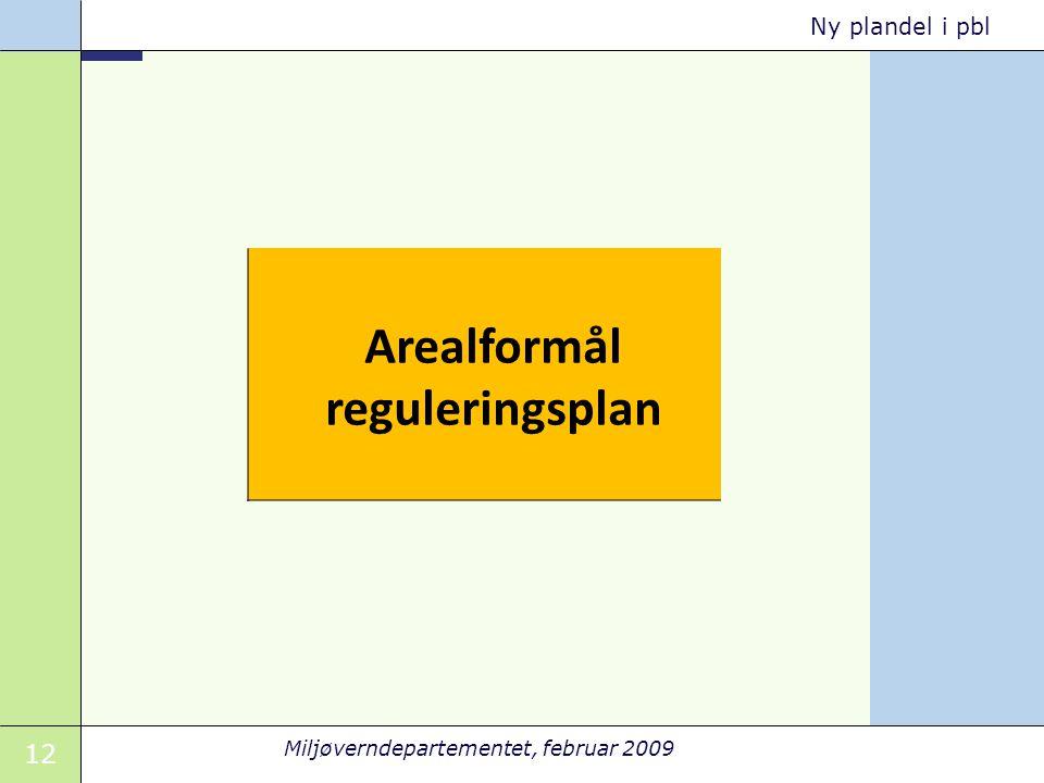 Arealformål reguleringsplan