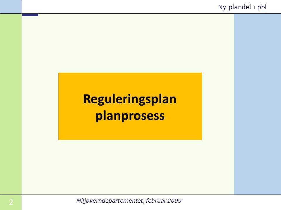 Reguleringsplan planprosess