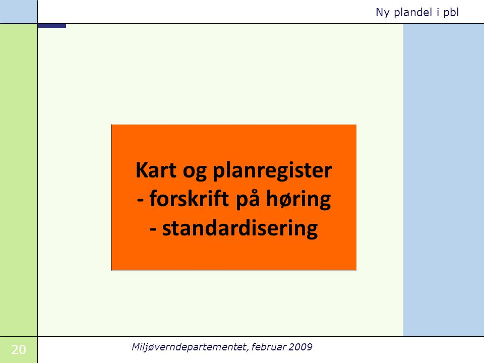 Kart og planregister - forskrift på høring - standardisering
