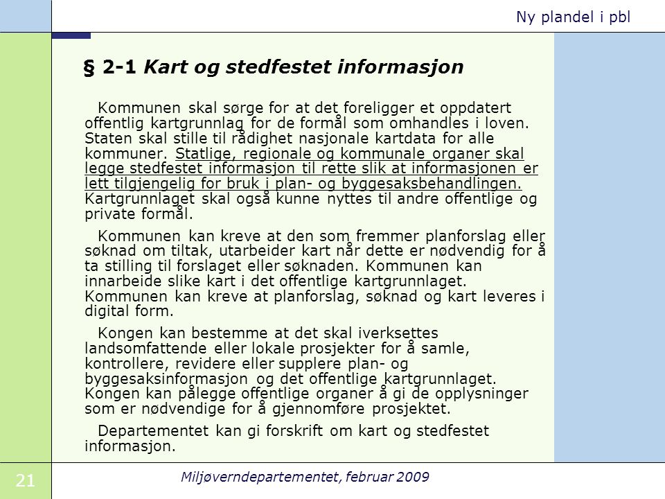 § 2-1 Kart og stedfestet informasjon