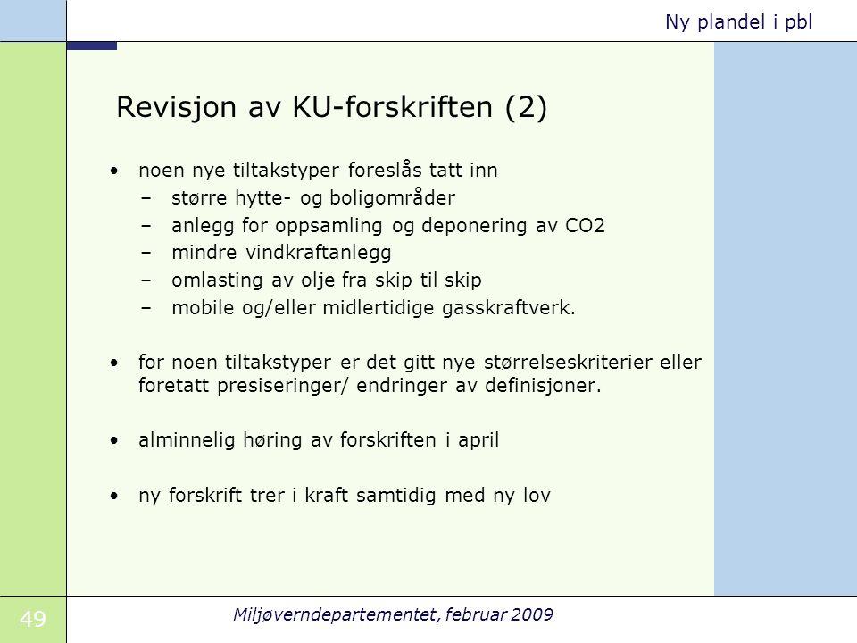 Revisjon av KU-forskriften (2)