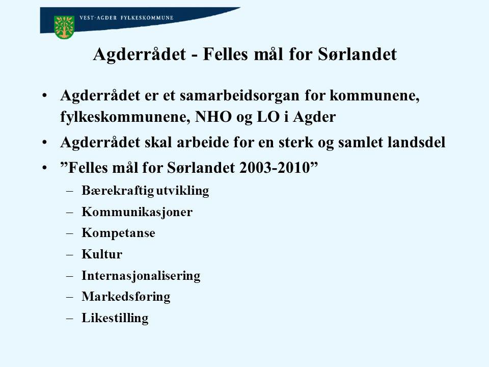 Agderrådet - Felles mål for Sørlandet
