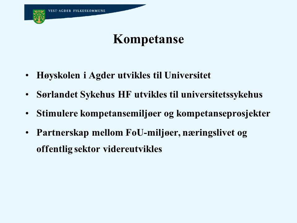 Kompetanse Høyskolen i Agder utvikles til Universitet