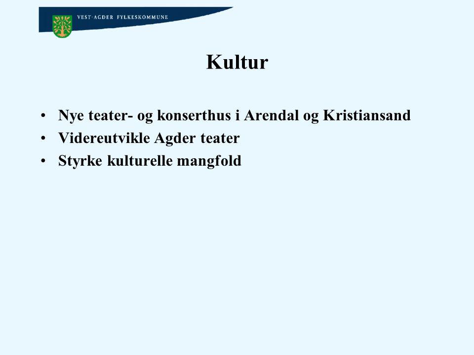 Kultur Nye teater- og konserthus i Arendal og Kristiansand
