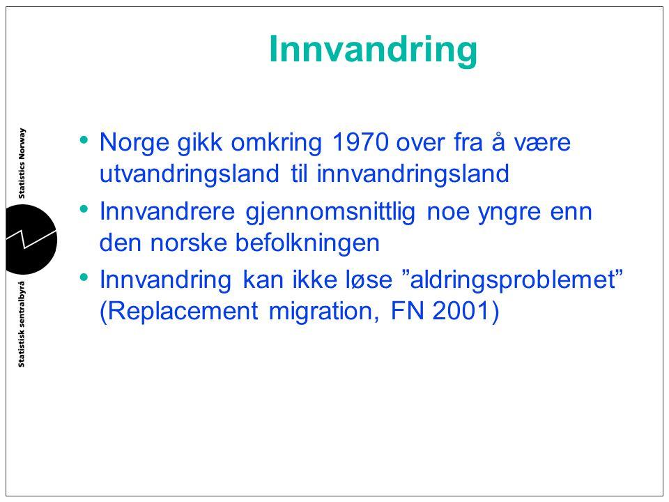 Innvandring Norge gikk omkring 1970 over fra å være utvandringsland til innvandringsland.