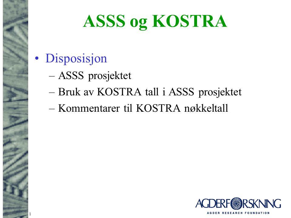 ASSS og KOSTRA Disposisjon ASSS prosjektet